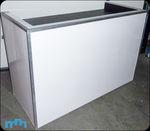 Wit glanzend dj-meubel (exclusief apparatuur)